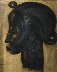profil de statue baulé de côte d'ivoire by michel adlen
