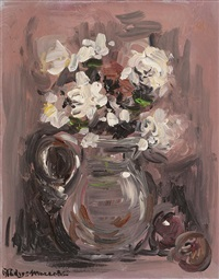 white flowers by gladys maccabe