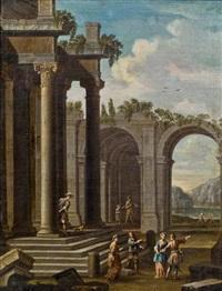 ruinencapriccio mit eleganter staffage by niccolò codazzi