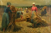 gathering grain by martin frost