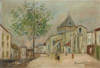 eglise de bessines-sur-gartempe (haute-vienne) by maurice utrillo