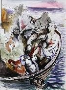 figure in barca by renato guttuso