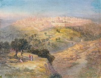 landscape outside of jerusalem by samuel lawson booth