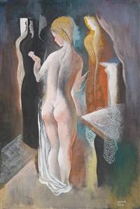 ladies in art-deco interieur by béla kádár