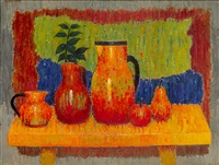 still life with water jugs by georges akopian