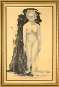 figure study by joseph stella
