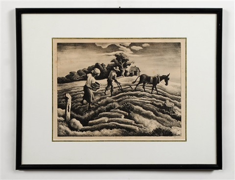 planting spring plowing by thomas hart benton