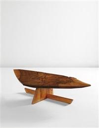 """minguren i"""" low table by george nakashima"""