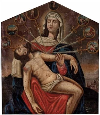 pietà und die sieben schmerzen mariens mit ausblick auf jerusalem by austrian school tyrolean 17