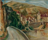 vue de village (+ 2 others, various sizes; 3 works) by andré favory