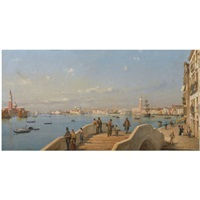 view of the lagoon, venice by luigi querena