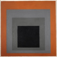 study for homage to the square, a61 by josef albers