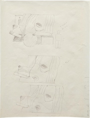 working drawing for great american nude 98 by tom wesselmann