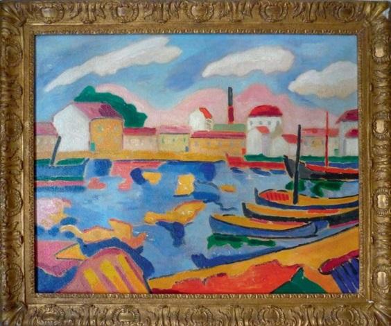 bateaux au port by jacques pons