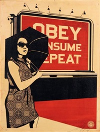 obey billboard consume by shepard fairey