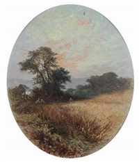 near stromswaite, cumberland (+ autumn landscape; pair) by william (of plymouth) williams
