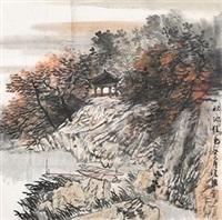 秋池佳色图 by zhang fuxing