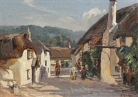 the ship inn, porlock, exmoor by alexander carruthers gould