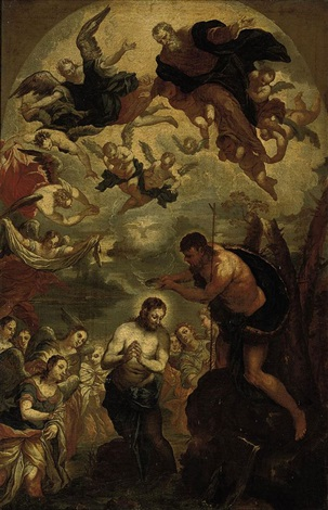 the baptism of christ by jacopo robusti tintoretto