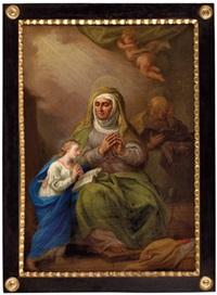 hl. maria, betend mit ihren eltern anna und joachim by austrian school-tyrolean (18)