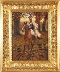 ułan na koniu by marian (mariusz) adamczewski