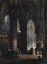 m,ssa i fransk katedral by ferdinand boberg