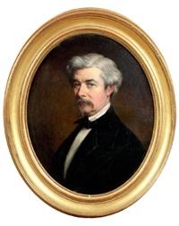 portrait d'homme by jules (jean-françois-hyacinthe) laure