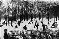 premiere neige au luxembourg by edouard boubat