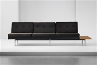 three-seater sofa, from the 'modular system' series by george nelson