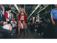 sarah jessica parker: sex and the subway by david lachapelle