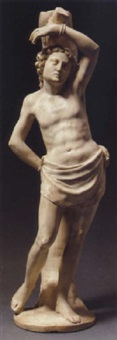 figure of st. sebastian by cristoforo solari