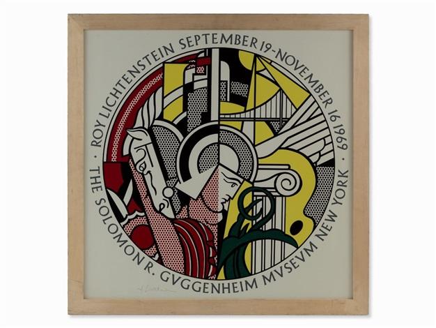 Signed Exhibition Poster by Roy Lichtenstein on artnet