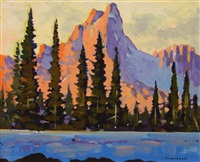 cathedral mountain, lake o'hara by william townsend