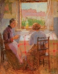 ženy sedící u okna by oldrich blazicek