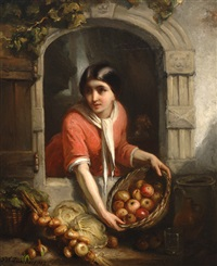 the vegetable stall by frederik willem zurcher