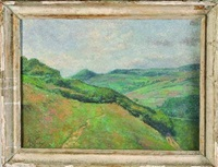 paysage du forez by georges aufray