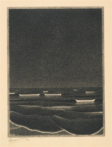 phosphorescent sea by m c escher