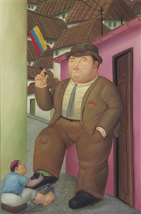 shoeshine by fernando botero