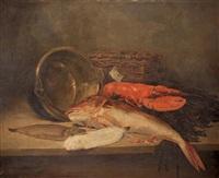 nature morte au homard by camille léopold cabaillot lassale