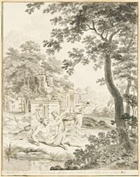 corisca et le satyre by hendrik hoogers