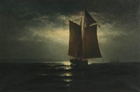 sailing by moonlight by elbridge wesley webber