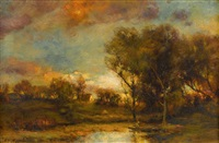 landscape at dusk by charles p. appel