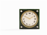 jade desk clock by cartier