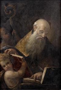 évêque lisant les saintes écritures by pietro muttoni