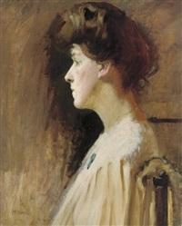 a lady in profile by ambrose mcevoy