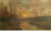 sunset landscape by edward b. gay