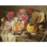still life with autumn fruits by theude grönland
