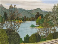 the fraser river near cheam, view ii by edward john hughes