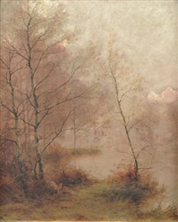 paysage à l'étang by albert gabriel rigolot