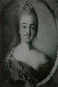 portrait de jeune femme dans un oeil de boeuf by louis richard françois dupont